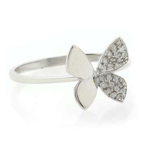 18k white gold butterfly ring silverbestbuy