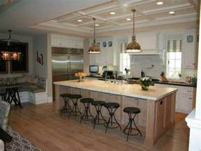 Large Kitchens With Islands 18 compact kitchen island with seating for six ideas