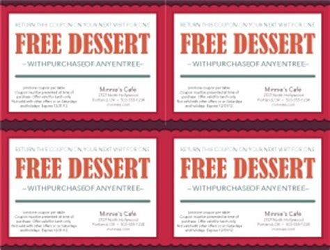 free printable restaurant coupons templates dinner coupon template marketing archive