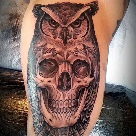 tattoo owl with skull meaning 58 best skull owl tattoos collection