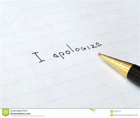 Apology Letter Pattern apology letter stock images image 25313114