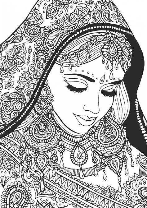 indian themed coloring pages раскраска антистресс quot девушка quot раскраски а4 формата для
