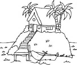 islands at sunset coloring pages