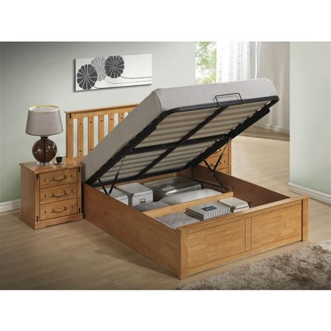 Wooden Ottoman Bed Stanley Ottoman Stoarge Wooden Bed