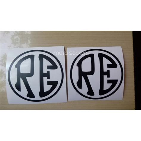 Customizable Wall Stickers re royal enfield logo in custom colors and sizes