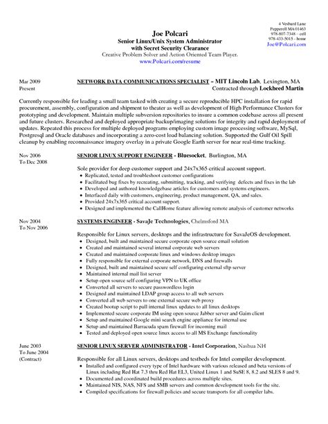 12 system admin resume samples way cross camp