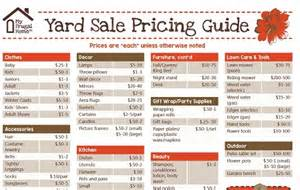 garage sale pricing guide review ebooks