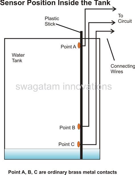 water tank level controller circuit diagram automatic water level controller circuit