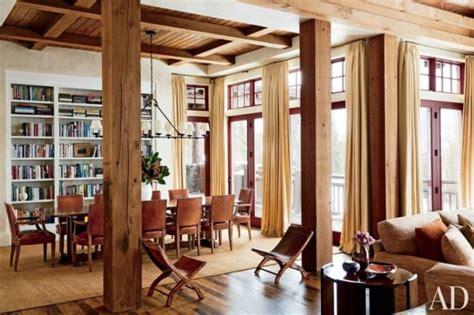 modern mountain homes via architectural digest ski and mountain homes refined by decorative rugs 22