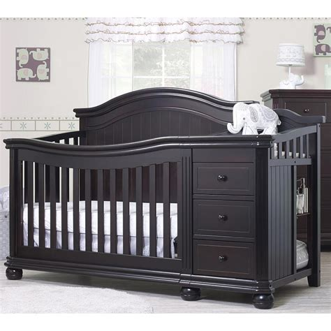 black espresso changing table black crib changing table combo changing table ideas