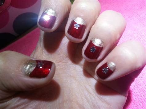imagenes de uñas pintadas de vinotinto u 209 as nails rojo con dorado f 225 ciles r 225 pidas y bonitas