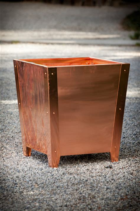 Outdoor Copper Planters by Copper Planters Modern Outdoor Pots And Planters Los
