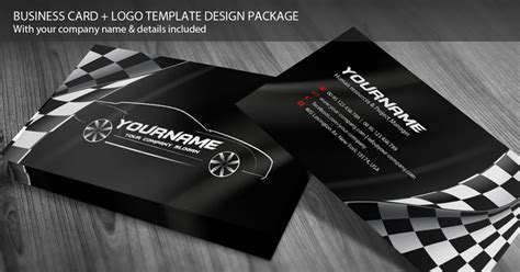 card template mechanic design business cards automotive template business