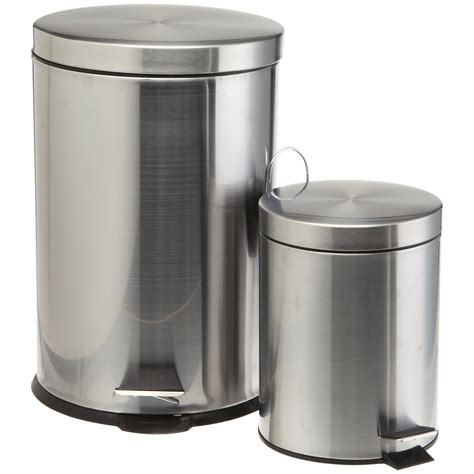 stainless steel bathroom trash can bathroom trash cans pro cook stainless steel trash cans1