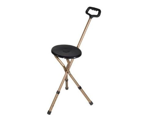 walking with seat cvs seat adjustable w handle bronze folding