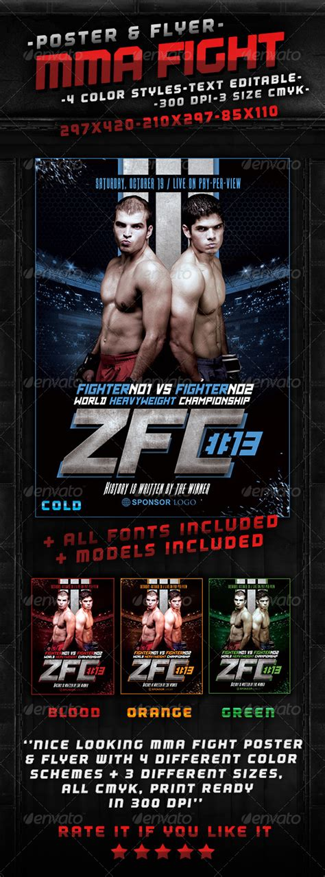 free fight poster templatess 187 tinkytyler org stock
