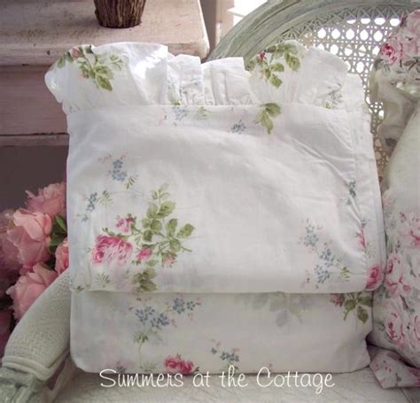 shabby romantic homes chic pink french roses king sheet set