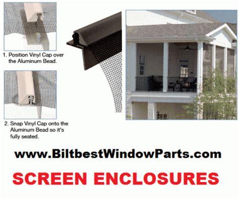 patio enclosure parts  screening screen room