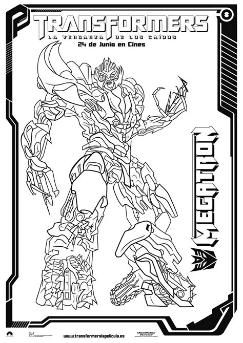 transformers megatron coloring page free coloring pages of transformer 2