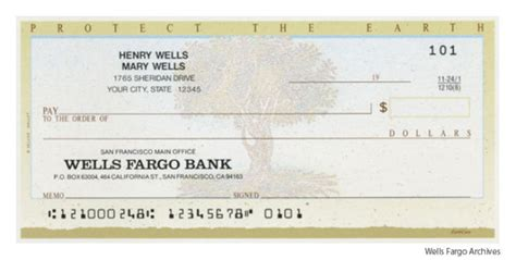 Wells Fargo Routing Number Number Routing Fargo Check Template