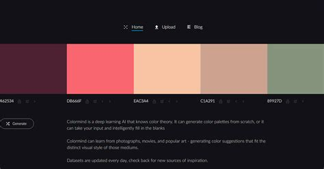 website color palette generator the intelligent color palette generator inspired by