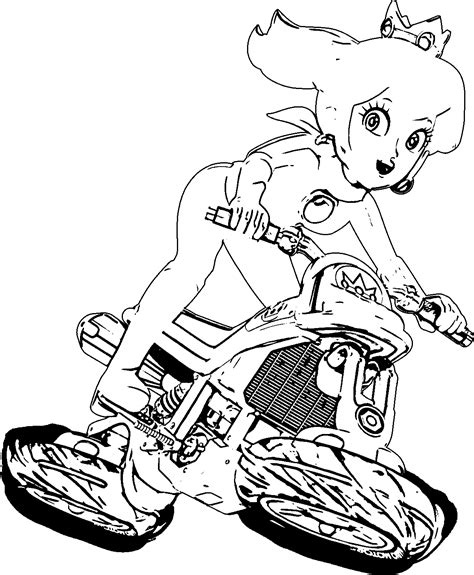 Mario Kart 8 Coloring Pages Coloring Home Princess Mario Kart Coloring Pages Free Coloring Sheets