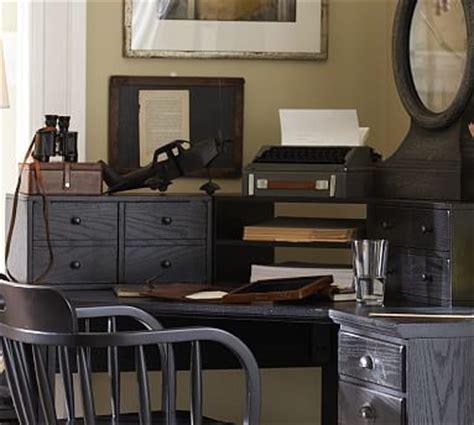pottery barn printer s desk printer s corner desk hutch pottery barn