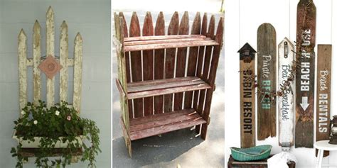 picket fence craft projects 15 awesome diy projects you can make with fence boards