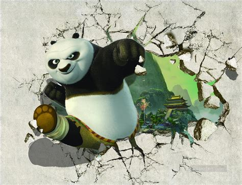 Panda 3d kung fu panda out of the temple 3d painting in for sale