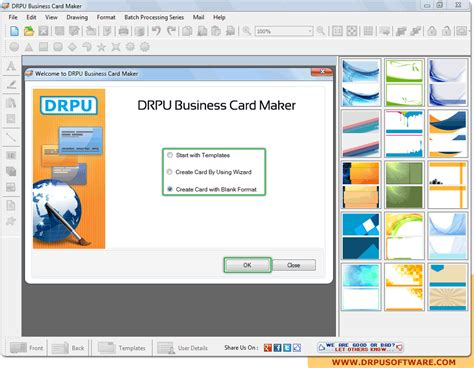 program to make business cards screenshots of drpu business card maker software to make