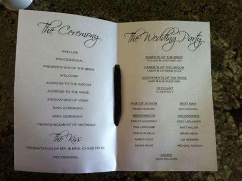 Diy Programs Weddingbee Photo Gallery Do It Yourself Wedding Programs Templates Free