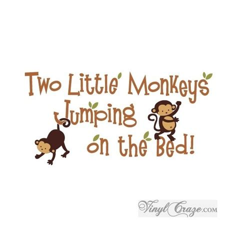 two little monkeys jumping on the bed pin by sarah minor on kids pinterest