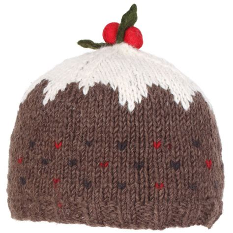 knitted christmas pudding hat pachamama