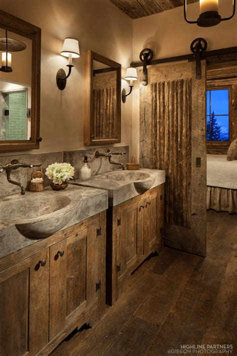 cabin bathroom designs sliding barn door designs mountainmodernlife com