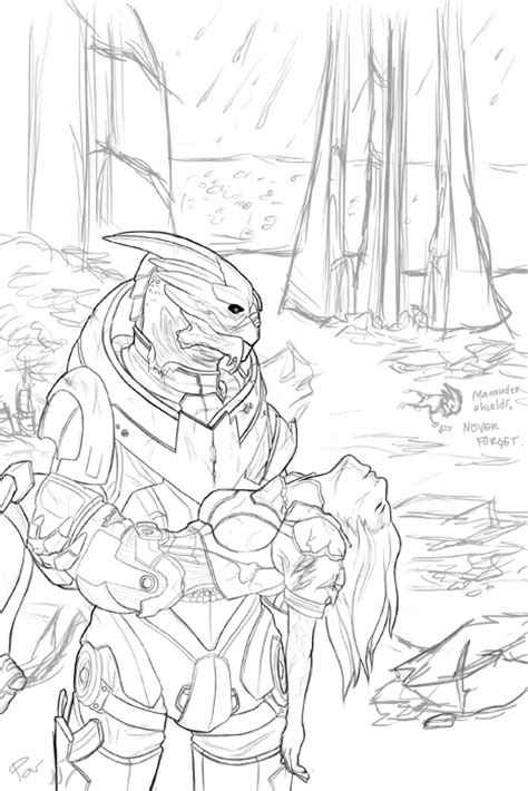 coloring book effect garrus and shepard the end by pandoxitty on deviantart