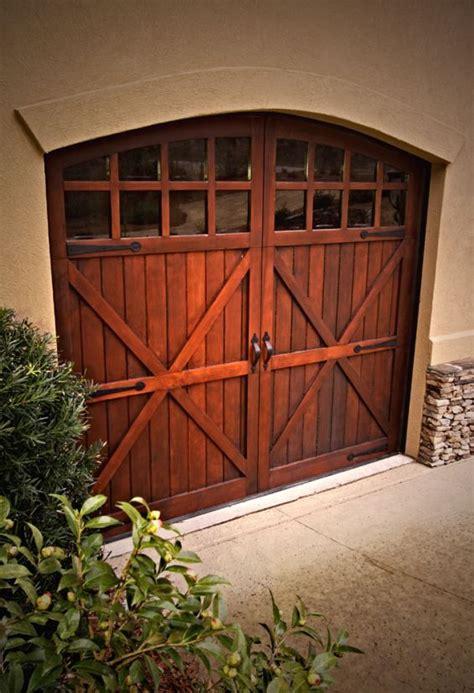 wooden carriage door  arch glass carriage doors