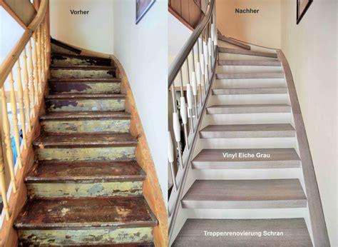 Treppe Restaurieren treppenrenovierung arnstadt vinyl grau flur