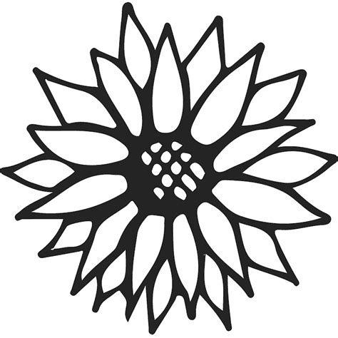 Sunflower Outline Png by Sunflower Outline Rubber St Flower Leaf Sts Sttopia