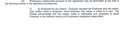 Offer Letter Give Notice In My Offer Letter The Employer Requests Me To Give 2 Week