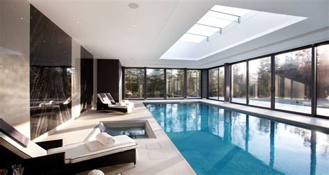 indoor pools for homes indoor swimming pool design construction falcon