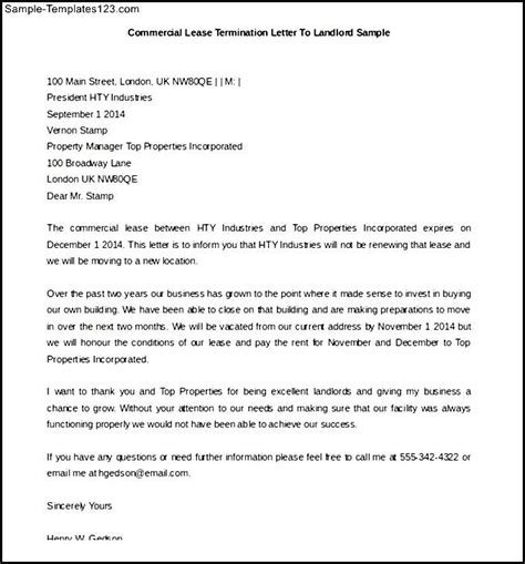 Lease Termination Letter From Landlord Sle Letter To Landlord To Mfacourses54 Web Fc2