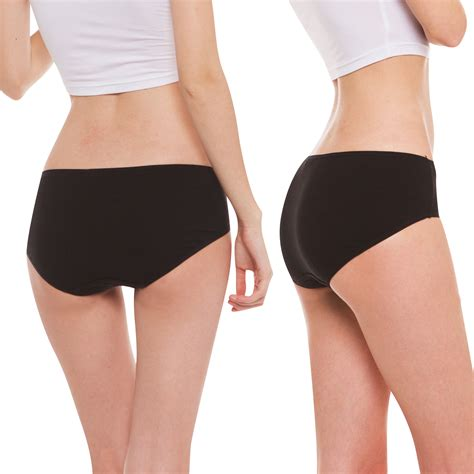 most comfortable long underwear women s organic cotton panties 3pack 1black 1white