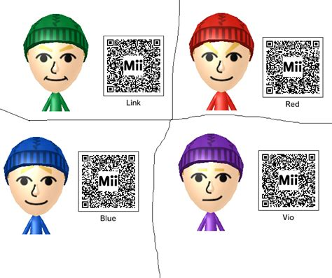 silver link anime list the four links miis with mii qr codes by twewy1 on