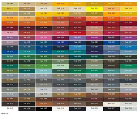 tavola ral 1000 ideas about ral color chart on ral
