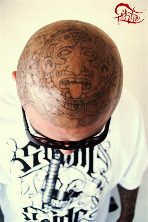 yg head tattoo aztec sun on by sarkastic85 on deviantart
