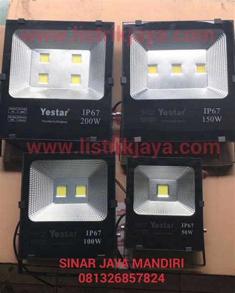 Lu Jalan Philips jual lu sorot led yestar chip bridgelux ip67 sinar