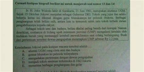 biodata jokowi bahasa indonesia kemendikbud soal un quot jokowi quot sudah sesuai standar