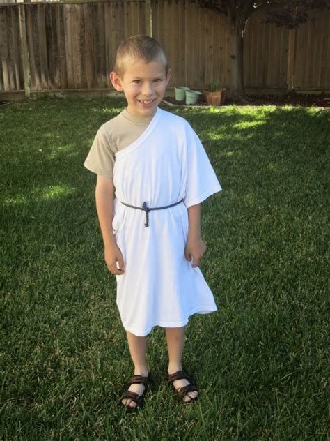 worlds easiest toga costume fun family crafts