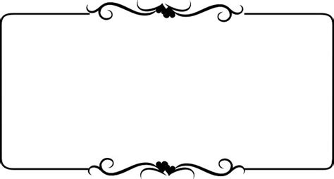 Wedding Clipart Black And White Border by Black And White Border Free Clip Black Wedding