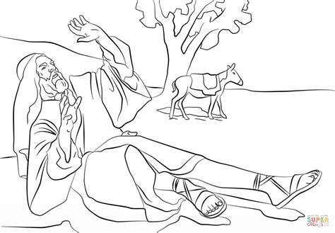 Saul On The Road To Damascus Coloring Page Coloring Pages Saul On The Road To Damascus Coloring Page